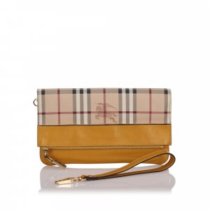 Burberry Haymarket Check Adeline Clutch Bag