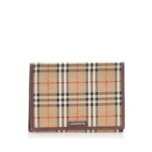 Burberry Haymarket Check Canvas Card Holder