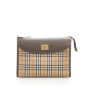 Burberry Haymarket Check Canvas Clutch Bag