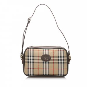 Burberry Haymarket Check Canvas Crossbody Bag