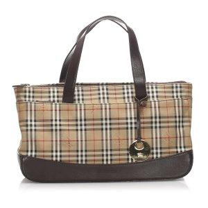 Burberry Haymarket Check Canvas Handbag