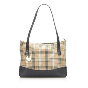 Burberry Haymarket Check Canvas Shoulder Bag