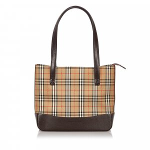 Burberry Haymarket Check Canvas Shoulder Bag