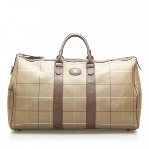 Burberry Haymarket Check Canvas Travel Bag