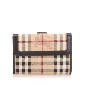 Burberry Haymarket Check Canvas Wallet