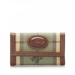 Burberry Haymarket Check Coated Canvas Key Holder