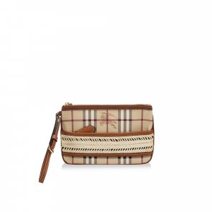 Burberry Haymarket Check Coated Canvas Pouch