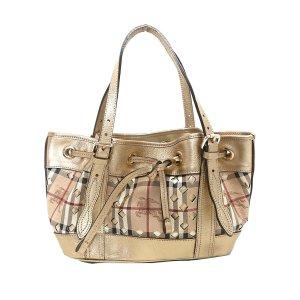 Burberry Haymarket Check Drawstring Handbag