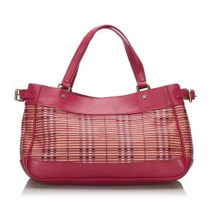 Burberry Shoulder Bag pink leather