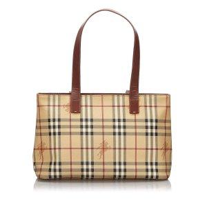 Burberry Haymarket Check Tote Bag