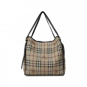 Burberry Haymarket Coated Canvas Canterbury Tote Bag