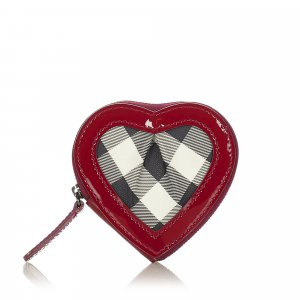 Burberry Heart Canvas Coin Pouch