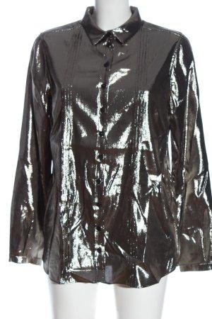 Burberry Hemd-Bluse silberfarben Elegant