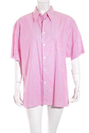 Burberry Formal Shirt pink-white striped pattern elegant