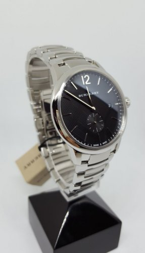 Burberry Analog Watch black-silver-colored stainless steel
