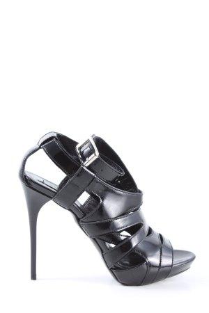 Burberry High Heel Sandaletten schwarz extravaganter Stil