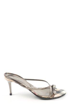 Burberry High Heel Sandaletten silberfarben Casual-Look