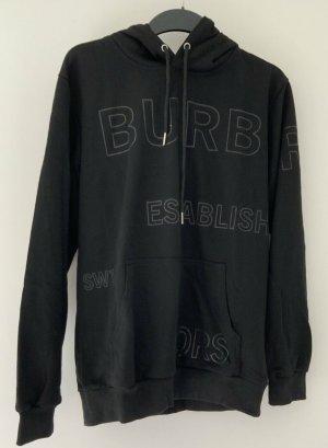 Burberry Maglione con cappuccio nero