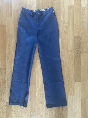 Burberry London Pantalón de pinza azul oscuro
