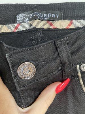 Burberry Lage taille broek zwart