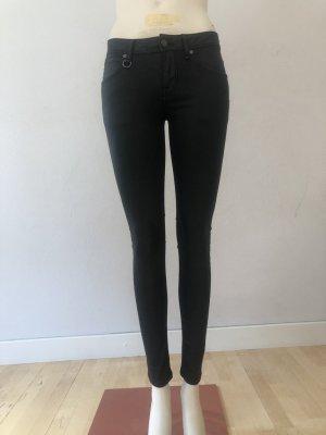 Burberry Brit Drainpipe Trousers black cotton