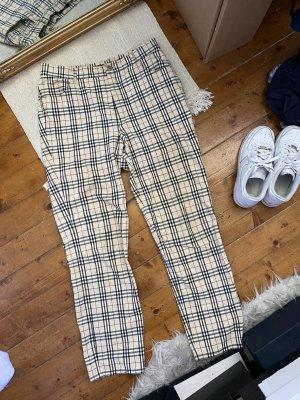 Burberry Spodnie z wysokim stanem Wielokolorowy