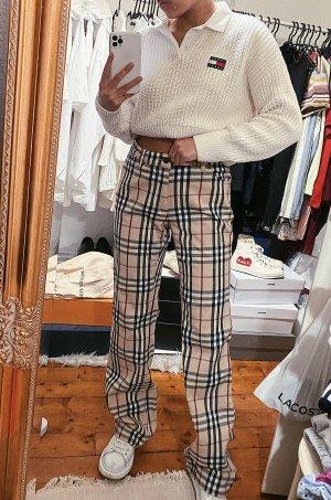 Burberry Hose Novacheck Nova Check Muster vintage kariert retro 90s
