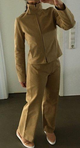 Burberry Trouser Suit sand brown-beige mixture fibre