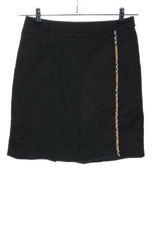 Burberry Broekrok zwart geruite print zakelijke stijl