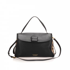 Burberry House Check Camberley Leather Satchel