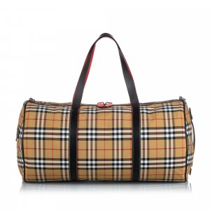 Burberry House Check Canvas Barrel Bag