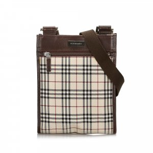 Burberry House Check Canvas Crossbody Bag