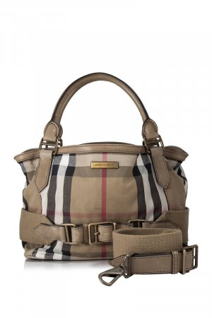 Burberry House Check Canvas Satchel