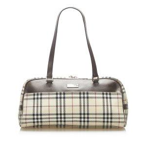Burberry House Check Canvas Shoulder Bag