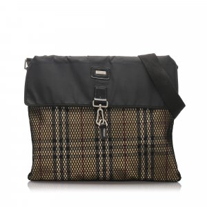 Burberry House Check Canvas Shoulder Bag