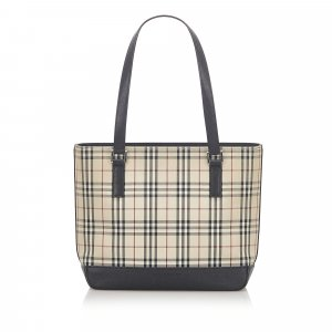 Burberry House Check Canvas Tote Bag