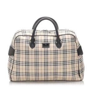 Burberry House Check Canvas Travel Bag