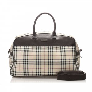 Burberry House Check Canvas Travel Bag