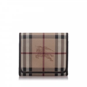 Burberry House Check Coated Canvas Small Wallet