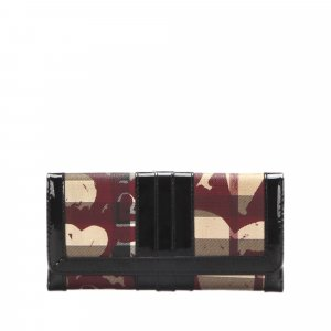 Burberry House Check Heart Canvas Wallet