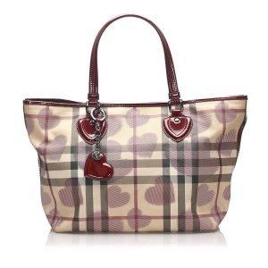 Burberry House Check Heart Tote Bag