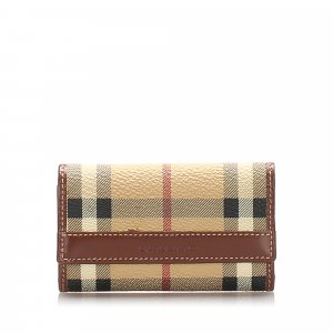 Burberry House Check Leather Key Holder