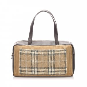 Burberry House Check Leather Shoulder Bag