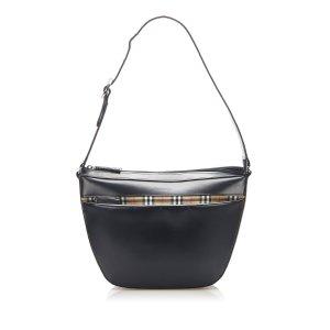 Burberry House Check Leather Shoulder Bag