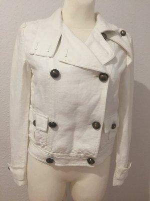 Burberry Marynarka koszulowa w kolorze białej wełny