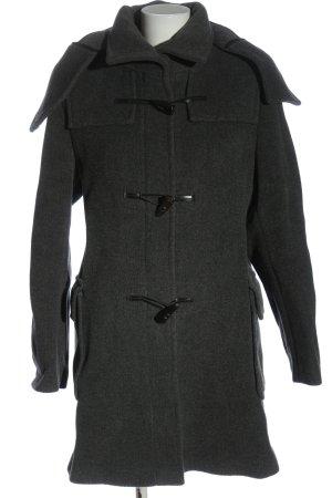 Burberry Abrigo con capucha gris claro moteado look casual