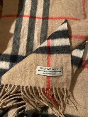 Burberry London Sciarpa in cashmere beige-crema