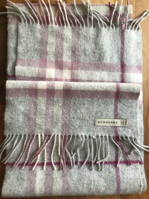 Burberry Cashmere Scarf silver-colored-pink
