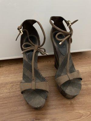 Burberry Platform Sandals multicolored