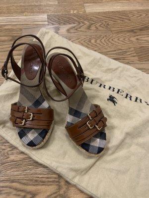 Burberry Platform Sandals multicolored leather